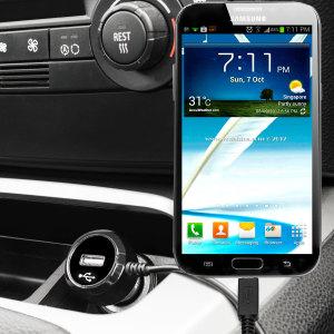Laden Sie Ihr Micro-USB-Gerät unterwegs auf, mit diesem Hochleistungs 2.4A Galaxy Note 2 Kfz-Ladegerät mit ausziehbarem Spiralkabel-Design.