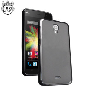 This black cover offers crystal case-like protection with the durability of a silicone case for the Wiko Bloom.