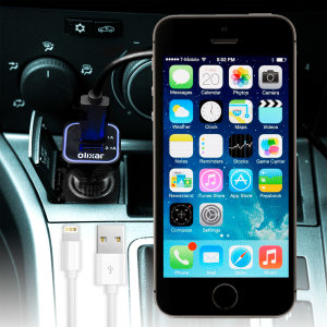 Keep your Apple iPhone 5S fully charged on the road with this high power 2.4A Car Charger, featuring extendable spiral cord design. As an added bonus, you can charge an additional USB device from the built-in USB port!