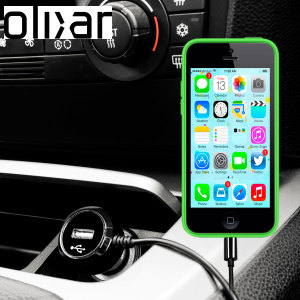 Keep your Apple iPhone 5C fully charged on the road with this high power 2.4A Car Charger, featuring extendable spiral cord design. As an added bonus, you can charge an additional USB device from the built-in USB port!
