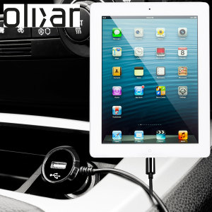 Keep your Apple iPad Mini 2 fully charged on the road with this high power 2.4A Car Charger, featuring extendable spiral cord design. As an added bonus, you can charge an additional USB device from the built-in USB port!