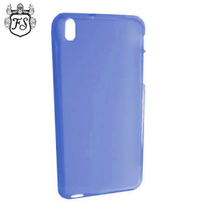 Keep your HTC Desire 816 protected from damage with the durable and attractive blue gel silicone TPU case by FlexiShield.