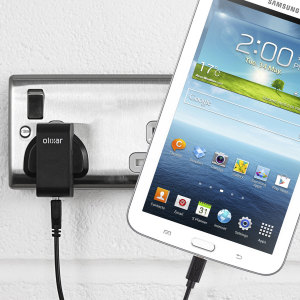 Charge your Samsung Galaxy Tab 3 7.0 quickly and conveniently with this compatible 2.5A high power charging kit. Featuring mains adapter and USB cable.