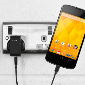 Charge your Google Nexus 4 quickly and conveniently with this compatible 2.4A high power charging kit. Featuring mains adapter and USB cable.