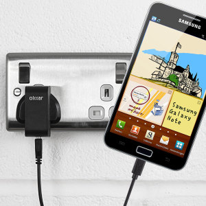 Charge your Samsung Galaxy Note quickly and conveniently with this compatible 2.4A high power charging kit. Featuring mains adapter and USB cable.
