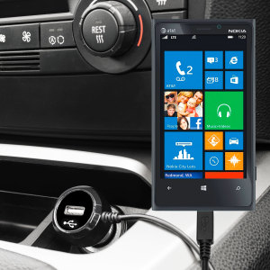 Keep your Nokia Lumia 920 fully charged on the road with this high power 2.4A Car Charger, featuring extendable spiral cord design. As an added bonus, you can charge an additional USB device from the built-in USB port!