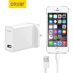 Charge your Apple iPhone 5S quickly and conveniently with this compatible 2.5A high power charging kit. Featuring mains adapter with Lightning connection cable. It's also fully compatible with iOS 7, so no annoying warnings.