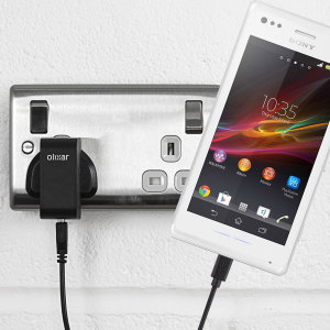 Charge your Sony Xperia M quickly and conveniently with this 2.1A high power charging kit. Featuring mains adapter and USB cable.