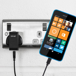 Charge your Nokia Lumia 630 / 635 quickly and conveniently with this compatible 2.4A high power charging kit. Featuring mains adapter and USB cable.