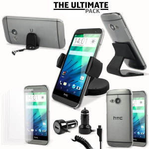 The ultimate HTC One Mini 2 accessory pack contains must have items for your phone. Designed to protect and store your HTC One Mini 2 at home, in the office and in the car.