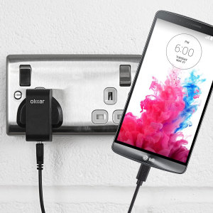 Charge your LG G3 quickly and conveniently with this compatible 2.5A high power charging kit. Featuring mains adapter and USB cable.