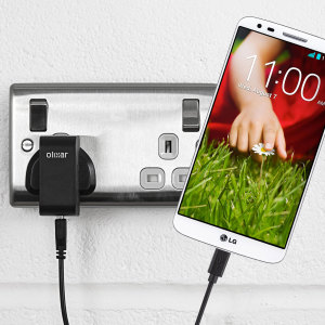Charge your LG G2 quickly and conveniently with this compatible 2.4A high power charging kit. Featuring mains adapter and USB cable.