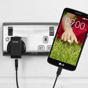 Charge your LG G2 Mini quickly and conveniently with this compatible 2.5A high power charging kit. Featuring mains adapter and USB cable.