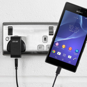 Charge your Sony Xperia M2 quickly and conveniently with this compatible 2.5A high power charging kit. Featuring mains adapter and USB cable.