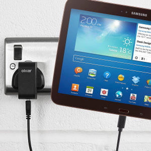 Charge your Samsung Galaxy Tab 3 10.1 quickly and conveniently with this compatible 2.4A high power charging kit. Featuring mains adapter and USB cable.