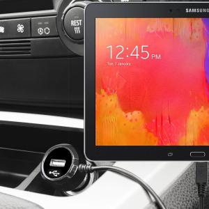 Laden Sie Ihr Micro-USB-Gerät unterwegs auf, mit diesem Hochleistungs 2.4A Galaxy Tab 3 10.1 Kfz-Ladegerät mit ausziehbarem Spiralkabel-Design.