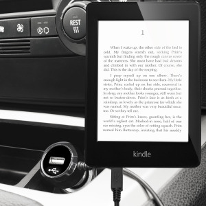 Chargeur Allume-Cigare Amazon Kindle avec Port USB - Noir