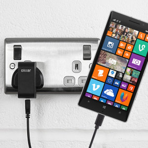 Charge your Nokia Lumia 930 quickly and conveniently with this compatible 2.5A high power charging kit. Featuring mains adapter and USB cable.