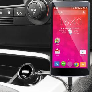 Mantenga su dispositivo OnePlus One totalmente cargado mientras conduce con este cargador de coche con cable en espiral extensible. Además tiene un puerto adicional USB para poder cargar otro aparato.