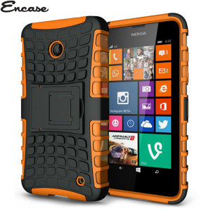 Protect your Lumia 630 / 635 from bumps and scrapes with this orange ArmourDillo case. Comprised of an inner TPU case and an outer impact-resistant exoskeleton, with a built in viewing stand.