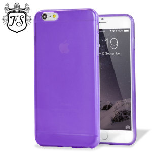 Custom moulded for the iPhone 6 Plus. This purple FlexiShield case from Encase provides a slim fitting stylish design and durable protection against damage, keeping your iPhone looking great at all times.