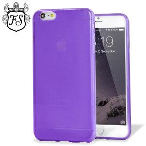 Guscio modellato su misura in materiale gel trasparente, per proteggere a lungo il tuo iPhone 6 Plus. Colore viola.