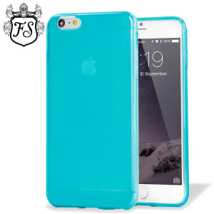 Custom moulded for the iPhone 6 Plus. This blue FlexiShield case from Encase provides a slim fitting stylish design and durable protection against damage, keeping your iPhone looking great at all times.