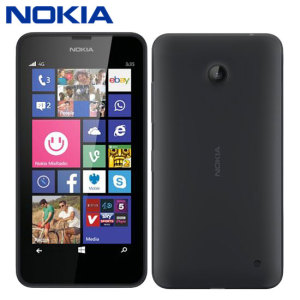 "Powered by Windows Phone 8.1, the Nokia Lumia 635 comes with a 4.5"" display, 1.2GHz quad-core processor and Nokia's MixRadio for listening to unlimited commercial-free music streaming at no additional cost."