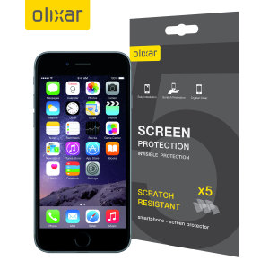 Keep your iPhone 6's screen in pristine condition with this Olixar scratch-resistant screen protector 5-in-1 pack.