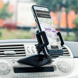 Safely and securely mount your smartphone in your vehicle with the easy-install CD Slot Mount Universal Car Holder from Olixar.