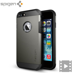 The SGP Tough Armor Case in gunmetal is the ultimate protective case for the iPhone 6S / 6, providing superb impact absorption due to Spigen's air cushion technology.