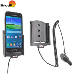 Charge and use your Samsung Galaxy S5 Mini in your vehicle with this Brodit active holder with tilt swivel.