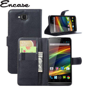 The Encase Wallet Case in black sticks to the back of your Wiko Slide to provide enclosed protection and can also be used to hold your credit cards.