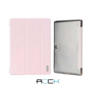 The pink Rock Elegant Smart Stand Case and the Samsung Galaxy Tab S 10.5 were made for each other. Providing a perfect fit, full body protection, media viewing stand and sleep / wake functionality, the Rock Case is sure to brighten up your Tab S 10.5.