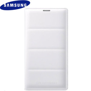 Flip Cover Wallet Officielle Samsung Galaxy Note 4 – Blanche