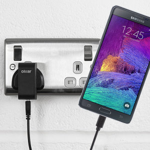 Charge your Samsung Galaxy Note 4 quickly and conveniently with this compatible 2.4A high power charging kit. Featuring mains adapter and USB cable.