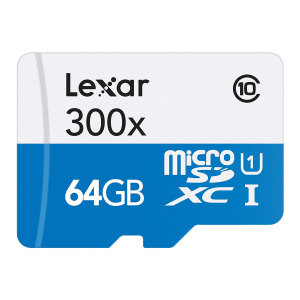 Lexar brings you a Full-HD compliant Class 10 performance Micro SD Card. The 64GB Micro SDXC card safely and effectively stores all your precious data and images compatible with a wide range of portable devices.