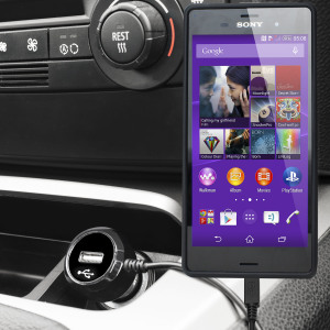 Mantenga su dispositivo Sony Xperia Z3 totalmente cargado mientras conduce con este cargador de coche con cable en espiral extensible. Además tiene un puerto adicional USB para poder cargar otro aparato.