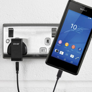 Charge your Sony Xperia E3 quickly and conveniently with this 2.4A high power charging kit. Featuring mains adapter and USB cable.