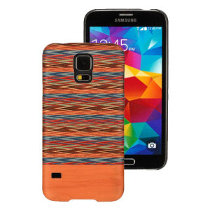 Funda Samsung Galaxy S5 Man&Wood de Madera - Marrón