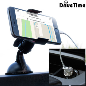 The perfect in-car accessory pack for your iPhone 6 Plus. Featuring a case compatible car holder mount, a 2 amp USB car charger and a 1m Lightning cable; you'll have everything you need to hold and charge your phone while driving.