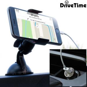 Das Pack enthält wesentliche Elemente, die Sie für Ihr Handy während einer Autofahrt benötigen. Ausgestattet mit einem robusten Autohalterung und einem Autoladegerät mit zusätzlichen USB-Port für Ihr iPhone 6 Plus.