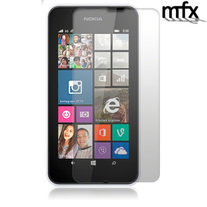Keep your Nokia Lumia 530's screen protected from scratches while keeping it clean and pristine with the MFX Screen Protector 2 pack.