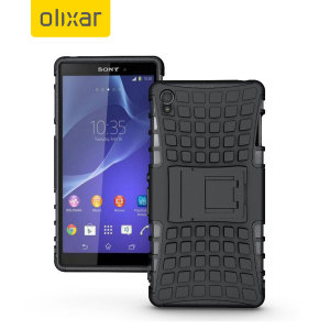 Protect your Sony Xperia Z3 from bumps and scrapes with this black Olixar ArmourDillo case. Comprised of an inner TPU case and an outer impact-resistant exoskeleton, the ArmourDillo provides robust protection and supreme styling.