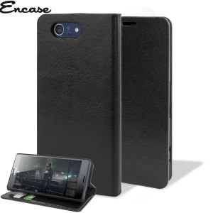 Protect your Sony Xperia Z3 Compact with this durable and stylish black leather-style wallet case. What's more, this case transforms into a handy stand to view media.