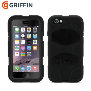 Built to UK and US military specifications and independently tested in extreme conditions, the black Griffin Survivor tough case for the Apple iPhone 6S and iPhone 6 provides peerless protection.