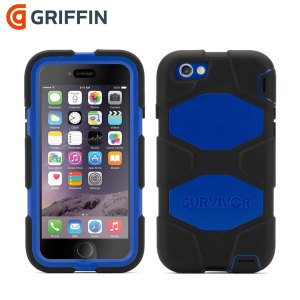 Built to UK and US military specifications and independently tested in extreme conditions, the black / blue Griffin Survivor tough case for the Apple iPhone 6S / 6 provides peerless protection.