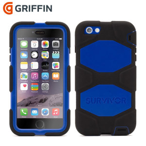 Built to UK and US military specifications and independently tested in extreme conditions, the black / blue Griffin Survivor tough case for the Apple iPhone 6S Plus / 6 Plus provides peerless protection.
