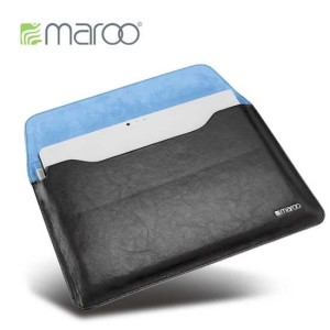 Protect your Microsoft Surface Pro 3 with this premium genuine leather sleeve in black with stylus holder and magnetic closure from Maroo.