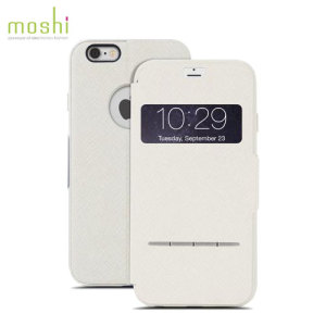 The Moshi SenseCover for the iPhone 6S Plus / 6 Plus in beige is a unique case with a touch sensitive cover that allows you to quickly view the time/date as well as answering calls without the need to open the case.
